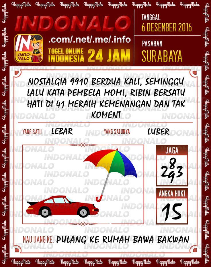 Angka Kumat 2D Togel Wap Online Live Draw 4D Indonalo Surabaya 6 Desember 2016