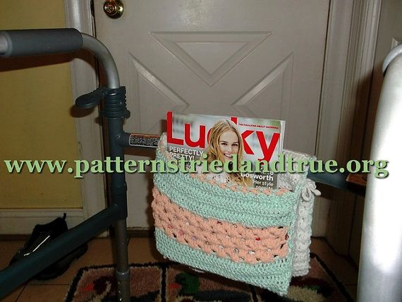 Walker Wheelchair Tote Crochet Pattern Handicapped Caddy