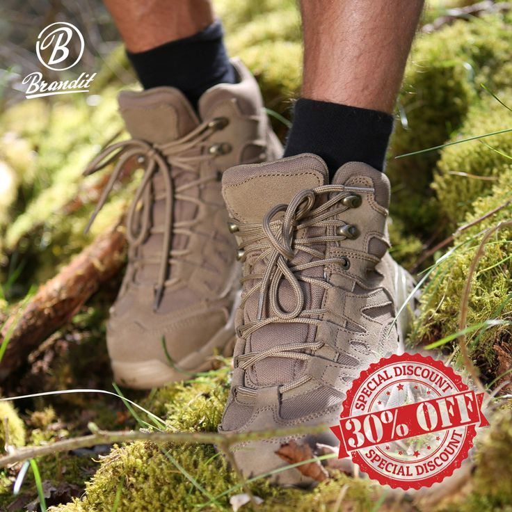 30% off Brandit Outdoor Trail Mid Cut Boots! Lightweight and durable, Brandit Outdoor Trail Mid Cut Boots come with Suede upper and breathable inner lining, padded upper shaft, corrugated rubber sole and strengthened toe cap. Perfect for hiking. Now only £32.16! Find our more at Military 1st online store. Free UK delivery and returns! Competitive overseas shipping rates.
