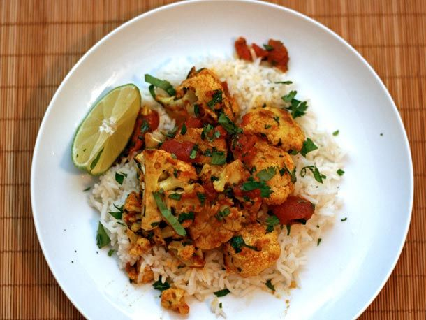 Roasted Cauliflower with Indian Spices. This is super delicious. Will ...