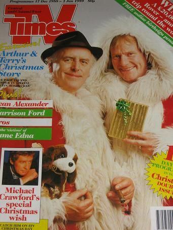 TV TIMES magazine, 17 December 1988 - 1 January 1989 issue for sale. Vintage ITV PROGRAMME LISTINGS