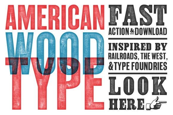 American Wood Type by RetroSupply Co. on Creative Market