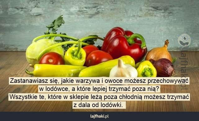 Których warzyw i owoców nie trzymać w lodówce? - Zastanawiasz się, jakie warzywa i owoce możesz przechowywać w lodówce, a które lepiej trzymać poza nią? Wszystkie te, które w sklepie leżą poza chłodnią możesz trzymać z dala od lodówki.