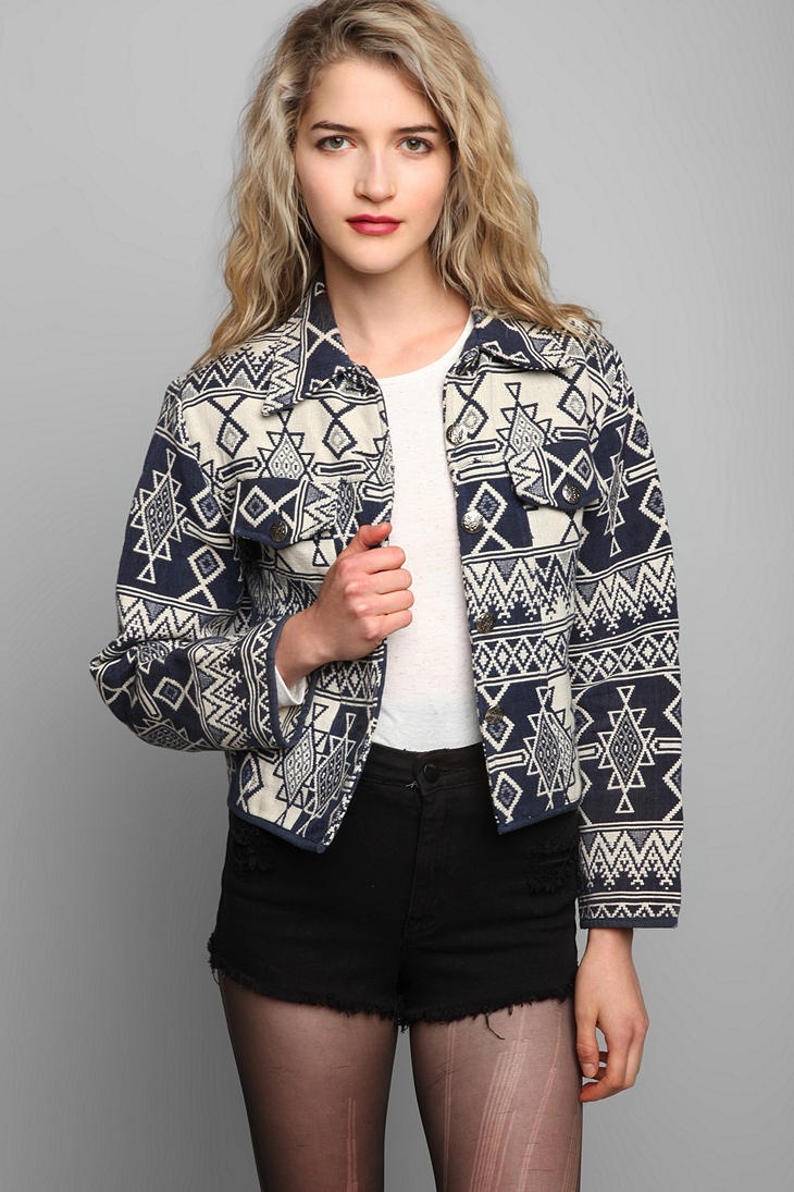 Vintage '80s Button-Down Tapestry Jacket #urbanoutfitters #vintage