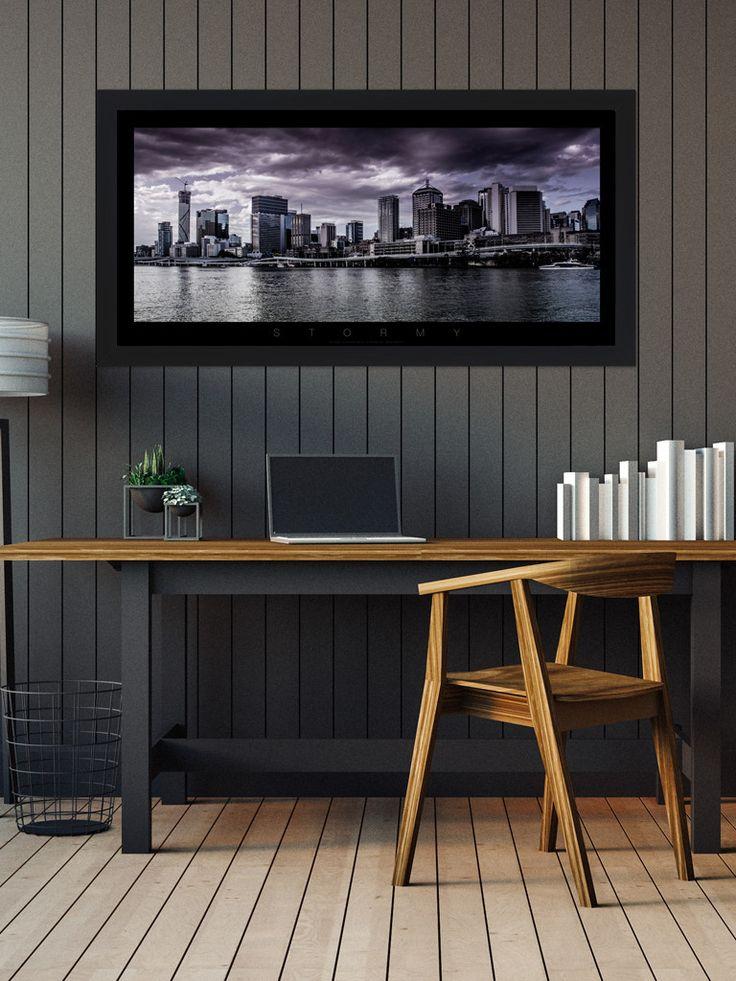 Brisbane City 'Stormy' Colour Panoramic