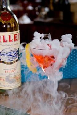 Smoking Martini ... +Three Pomegranate Cocktails