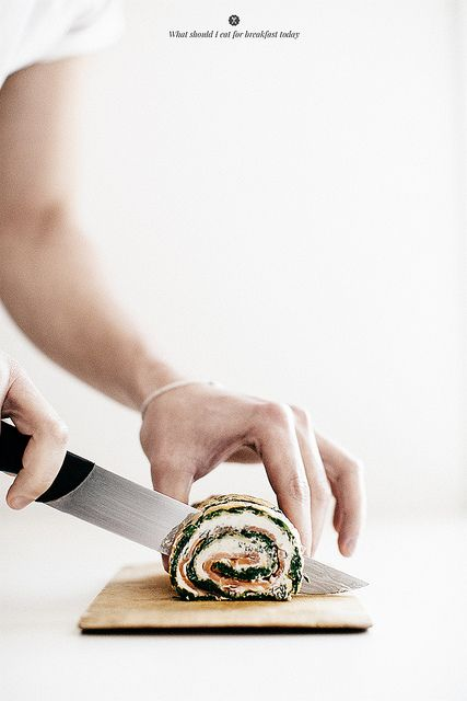 Spinach and egg rolls with smoked salmon and cream cheese   Flickr - Photo Sharing!
