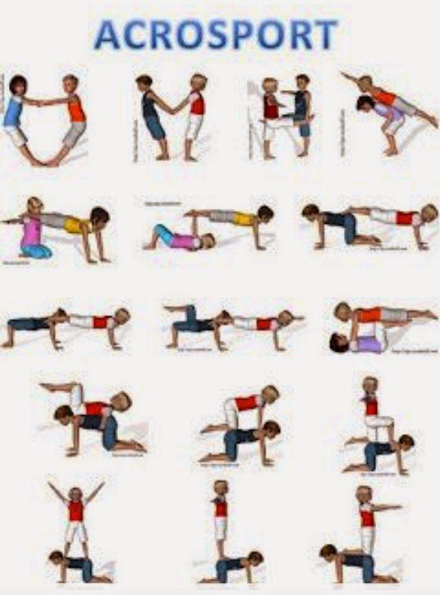 Leuk om de gymles eens af te wisselen met een lesje acrobatiek. Eerst met tweetallen oefenen, daarna in kleine groepjes laten samenwerken. ...