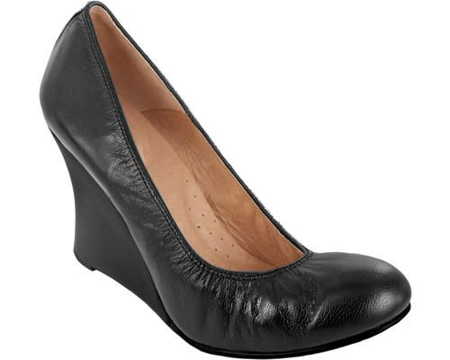 3.5 Wedge Pump Noir Napa Leather  www.pediped.at