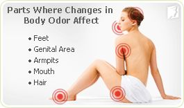 Body Odor: For most mid aged women, hormone fluctuations are the main cause for changes in body odor. Estrogen is responsible for regulating the hypothalamus, the part of the brain that controls body temperature. When estrogen levels drop in menopause, a false message is sent to the hypothalamus saying that the body is overheated. Also, hot flashes & night sweats, though psychological symptoms such as depression, panic attacks, or anxiety can lead to an increase sweat and body odor.