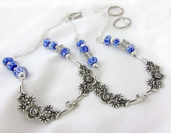 Blue Curtain Tiebacks Lampwork Bead Tiebacks by EarthlieTreasures, $36.00