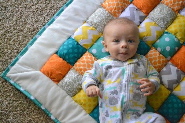 Puff Quilt Chevron Fabric Puff Quilt Baby Blanket