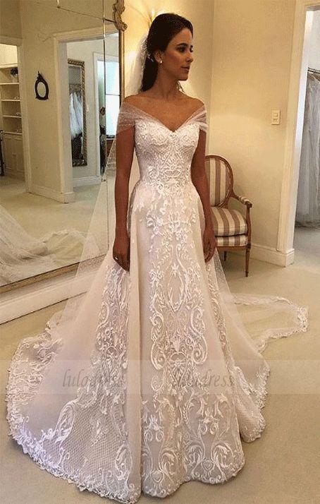 Elegant Off-the-Shoulder Wedding Dresses,BW97122