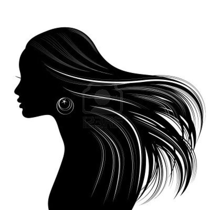 stock vector : Profile woman face vector, silhouette hand ...  Face Profile Silhouette Blowing