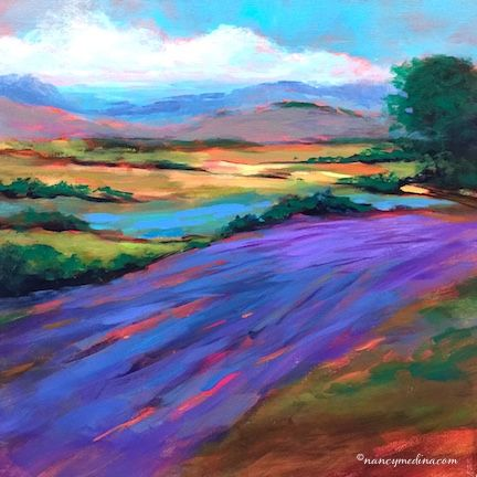 Eight Days Until Painting Brilliant Colors and Azure Fields - Nancy Medina Art Videos and Classes -- Nancy Medina