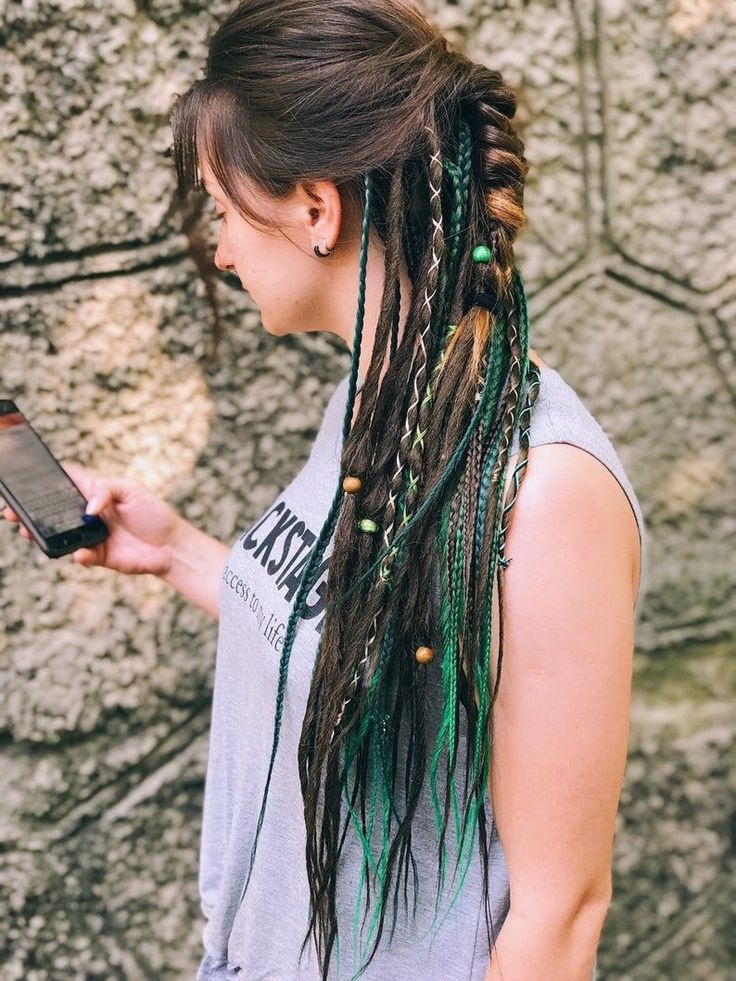 Synthetic Dreads Single Ended Mix Dreadlocks and Single