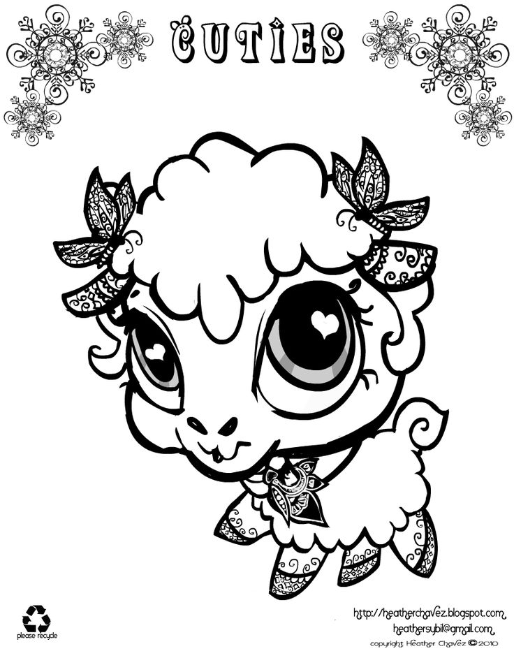 Cute Animal Colouring In : 482 best cute animals images on pinterest