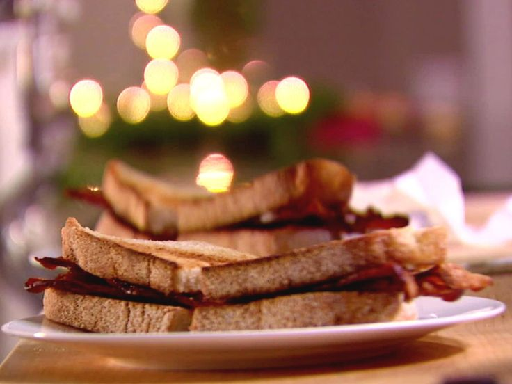 English Bacon Sandwich recipe from Ina Garten via Food Network.  Perfect for a late night snack!