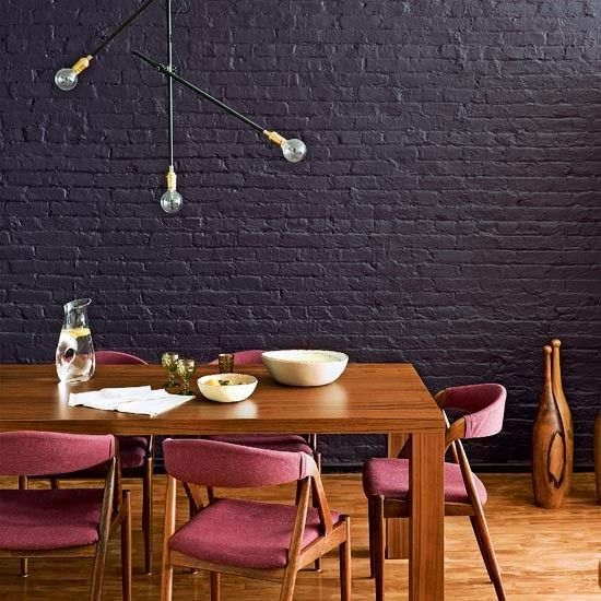 purple brick purple wall dark brick black brick wall purple rooms. Black Bedroom Furniture Sets. Home Design Ideas