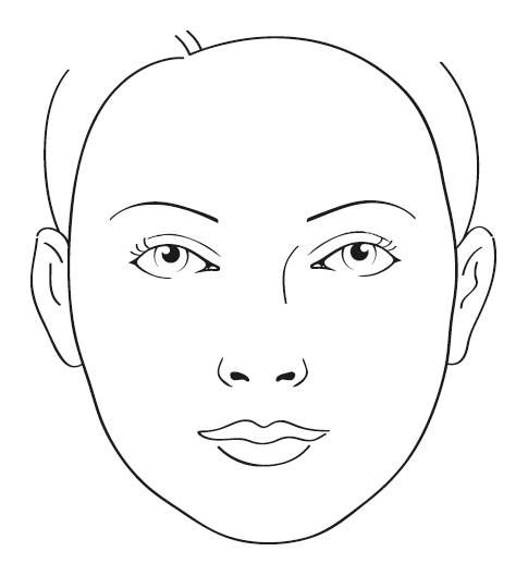 blank face charts makeup 15 best images of blank face diagram botox