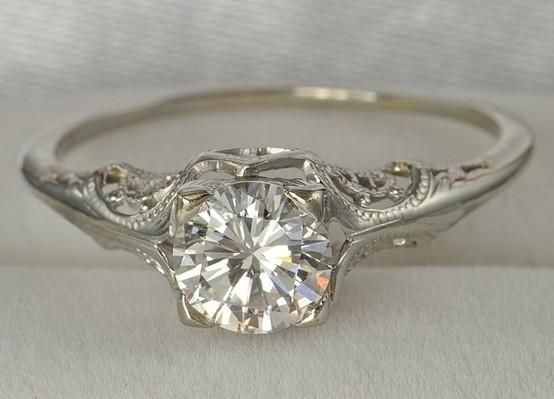 antique engagement rings without diamond | ♥ Vintage diamond wedding rings. Antique diamond engagement ring ... by Kimara