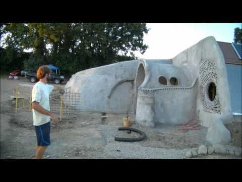 Earthship: Drainage in Wet Climate - YouTube