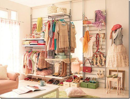 Ber ideen zu araras de roupas auf pinterest - Kleiderablage ideen ...