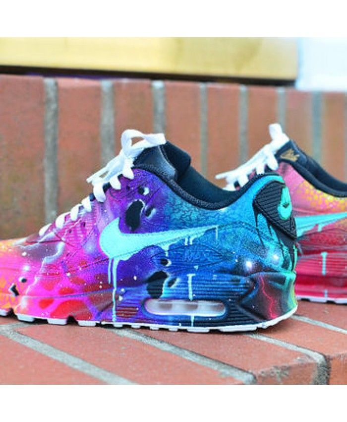 Cheap UK Nike Air Max 90 Candy Drip Navy Pink Purple Custom Mens & Womens Trainers/Sneakers Sale Online