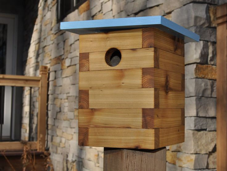 Modern Bird House Chickadee No 1 by modernnestco on Etsy