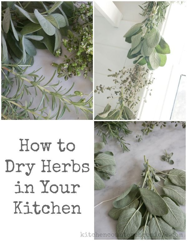 Simple step by step instructions for how to dry herbs in your own kitchen.  A wonderful to make use of the herbs you have grown all summer long. | Kitchen Tips and Tricks |