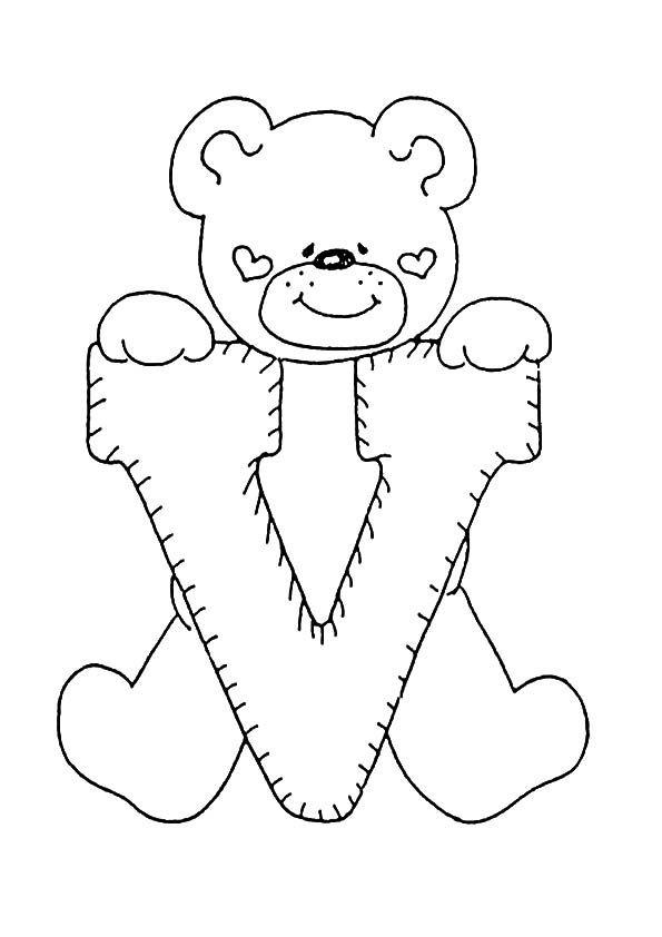 Buchstaben V ausmalen Bebè Alfabeto Bomboniere