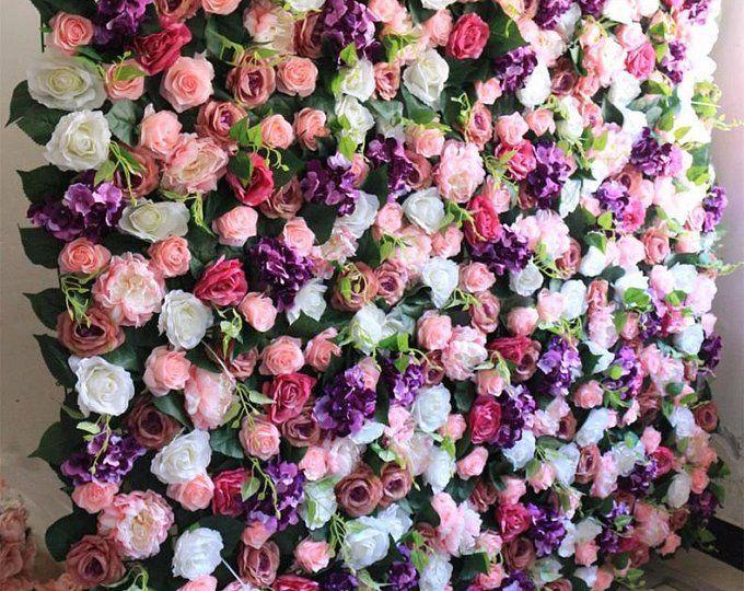 New Arrival Artifical Silk Rose Hydrangea Flower Walls Wedding Backdrops For Romantic Wedding Photography Panels 40 60cm Flower Garland Backdrop Flower Wall Wedding Flower Wall Backdrop