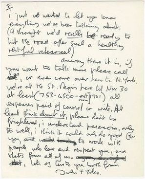Beatles John Lennon Letter To Eric Clapton Up For Auction