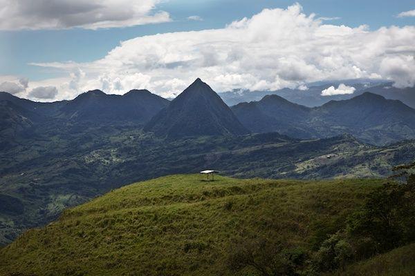 Cerro Tusa, an impressive landmark of the southwest coffee region of Antioquia, Colombia.