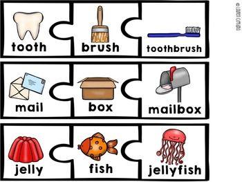 Compound Words Puzzle {Freebie}