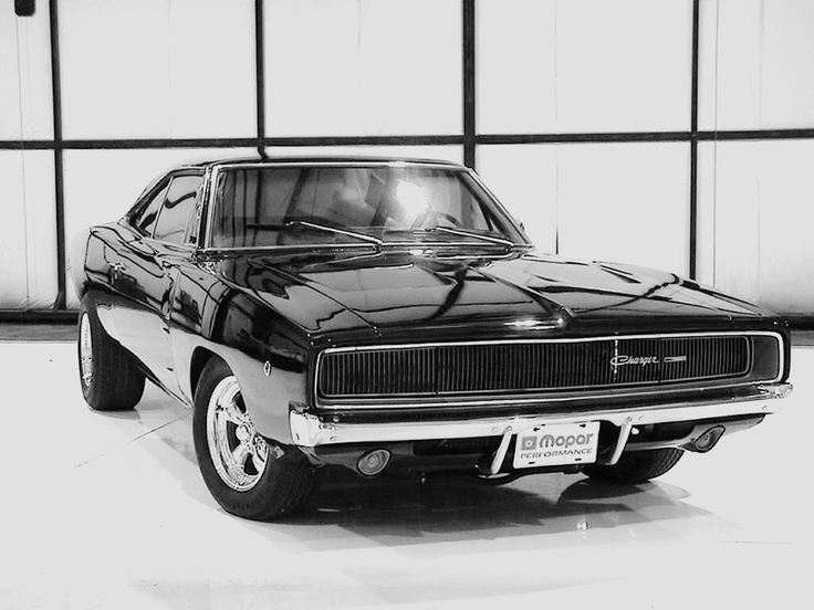 Black 68 Charger