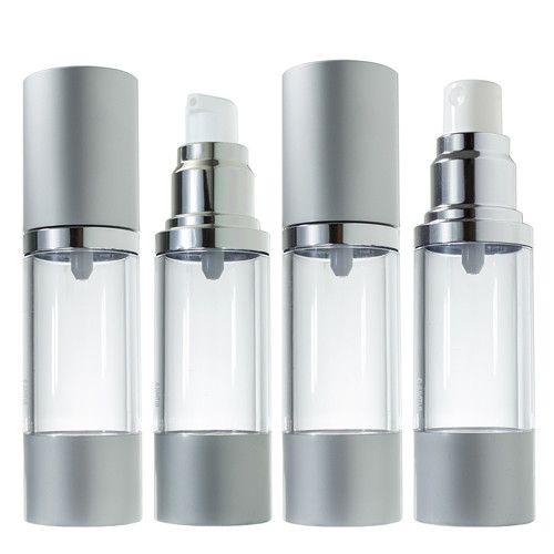 Airless Pump and Spray Bottle Refillable Travel Set - 1 oz