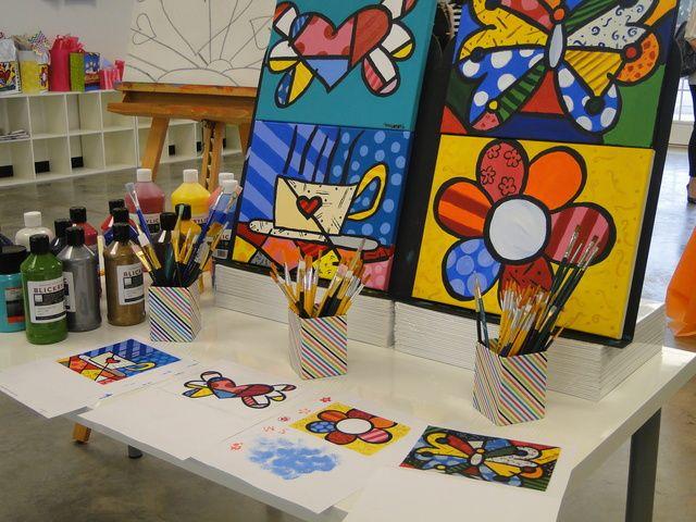 Activities at a Art Party #art #partyactivities