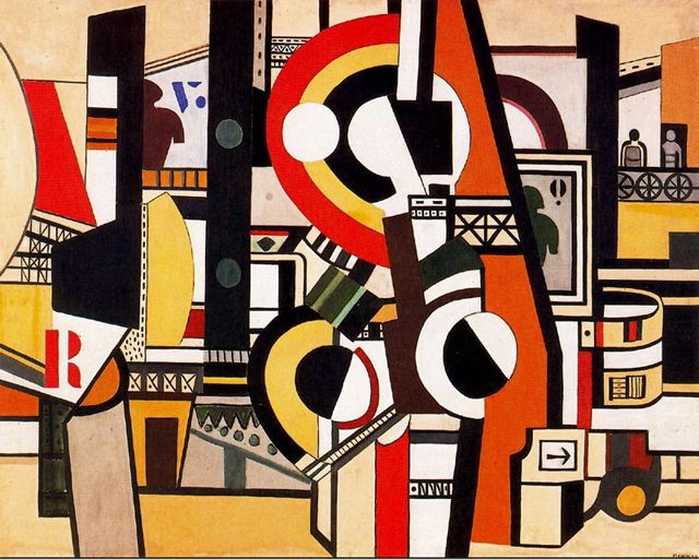 Fernand Leger, The disks in the city