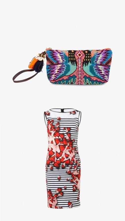 """Pochette """"Eliz Neon Zip"""" - JADE TRIBE, robe imprimée en néoprène - CLOVER CANYON #LeBonMarché #women #femmes #trend #silencelesmouettes"""