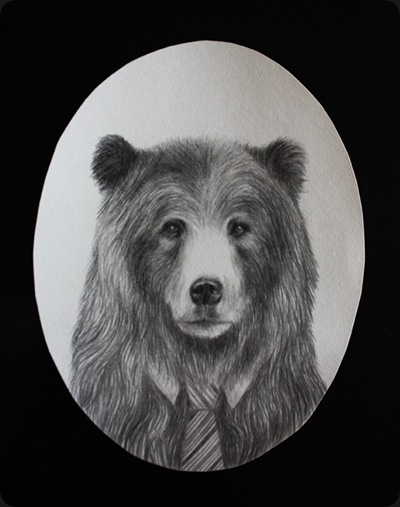 'Portrait of a Grand Bear' by miss talseth illustration