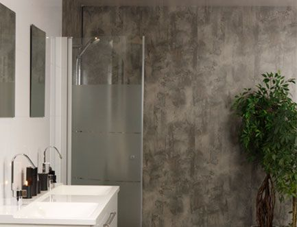 Install Decorative Wall Panels Bathroom Interiors