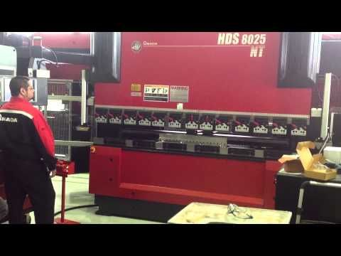 Lazer Safe on Amada HDS Press Brake - YouTube