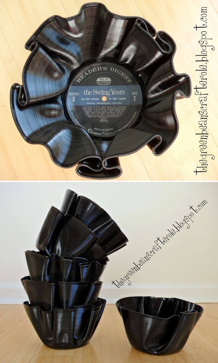DIY: bowl out of old records