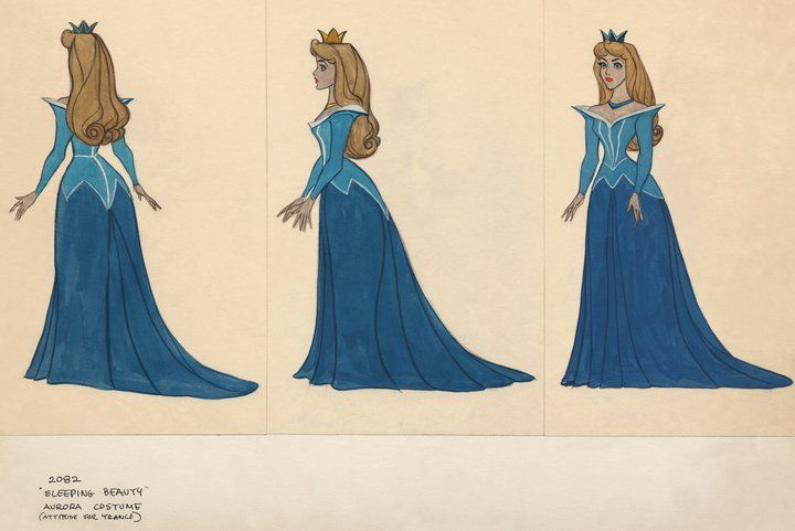 Sleeping Beauty Costume Drawings