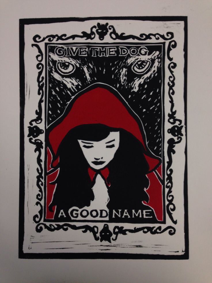 Reduction Linocut. Red Riding Hood - How to make friends and influence fairytales - part 2