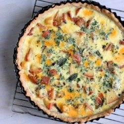 Apple Cheddar Quiche with Ham and Sage