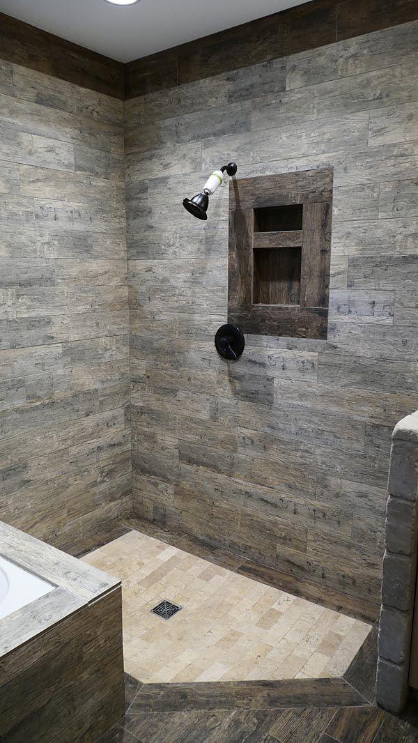 Master Bathroom Walk In Shower No Glass No Door Easy To