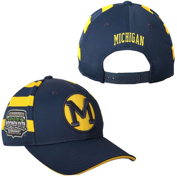 Michigan Wolverines adidas 2015 Hockey City Classic Adjustable Hat - Navy Blue/Maize - $16.99