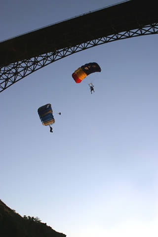 Want to parachute off of a bridge? Then BASE Jumping at Twin Falls, ID is for you!